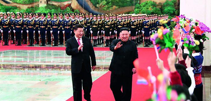 封二:习近平同朝鲜劳动党委员长金正恩举行会谈 |  李克强主持召开专家学者和企业界人士座谈会