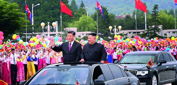 封面:习近平对朝鲜进行国事访问