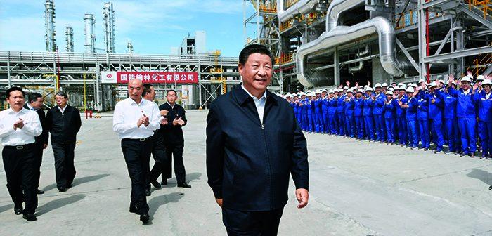 封面:习近平在陕西榆林考察